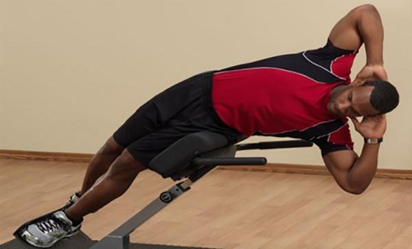 Упражнение для боковых мышц пресса