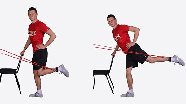 Отведение ног с резинкой