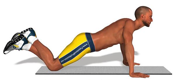 отжимание для грудных мышц на коленях