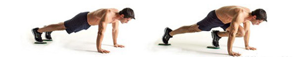 Упражнение скалолаз на дисках