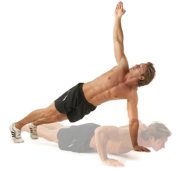 Упражнение т-отжимание