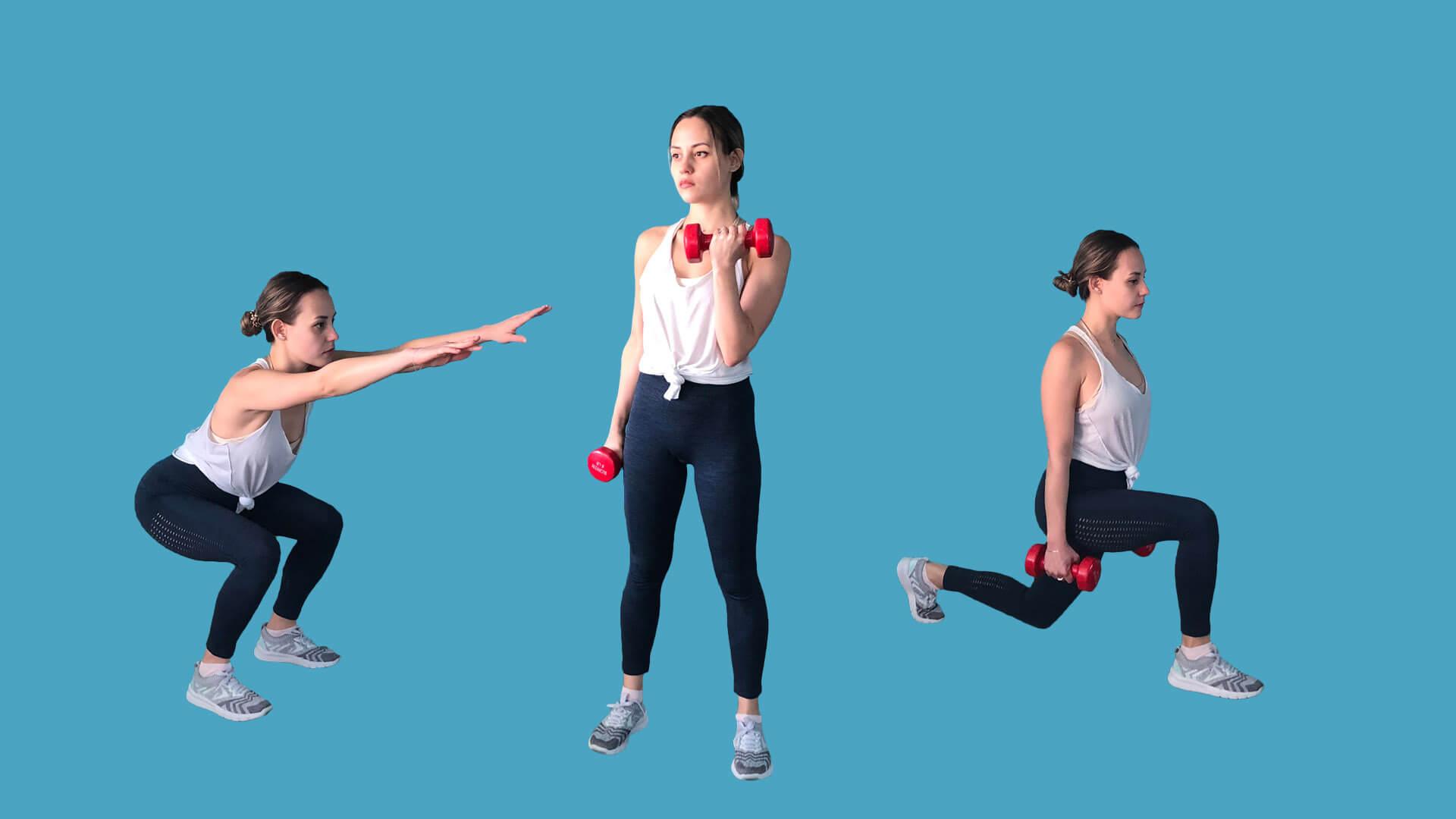 Упражнения для женщин: фото.