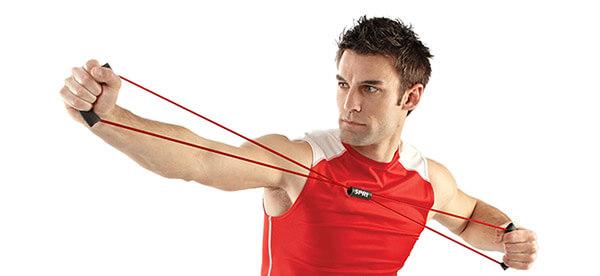 Плечевой эспандер упражнения для мужчин
