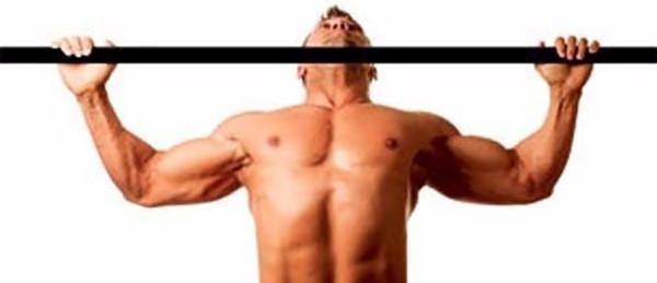 Подтягивания широким хватом к груди