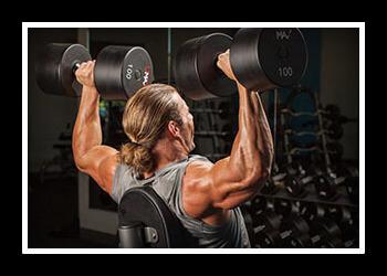 Упражнения на плечи в зале фото