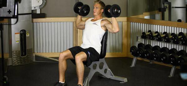 Махи гантелями сидя техника выполнения какие мышцы работают