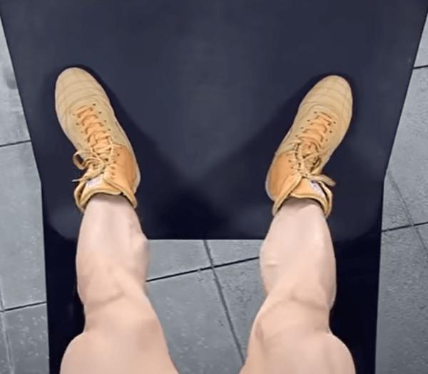 Классическая постановка ног