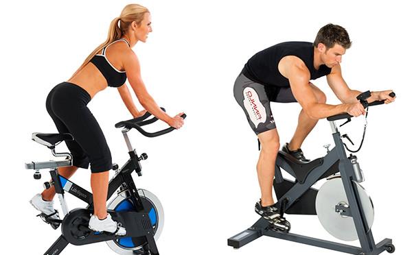 Тренировка на велотренажере, усложнение