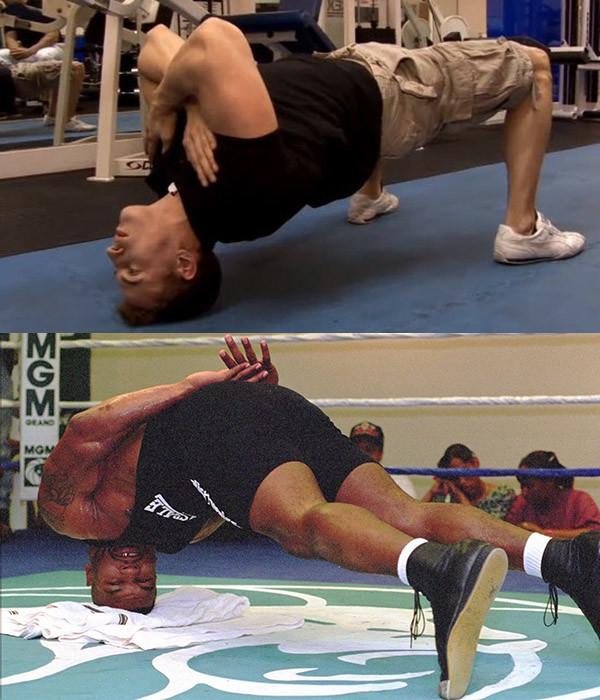 Варианты упражнения для мышц шеи - бойцовский мост