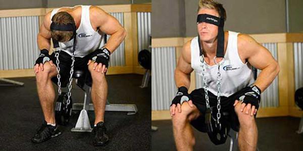 Прокачка мышц шеи