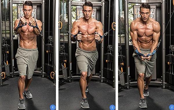 Упражнения для грудных мышц в кроссовере