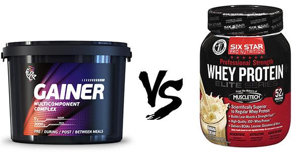 Выбирай между гейнером и протеином для роста мышц