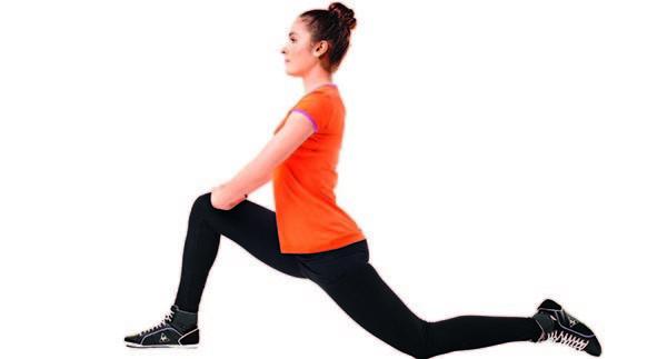 Растяжка ног и бедер после тренировки