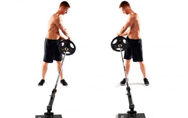 Упражнение маятник с грифом для мужчин
