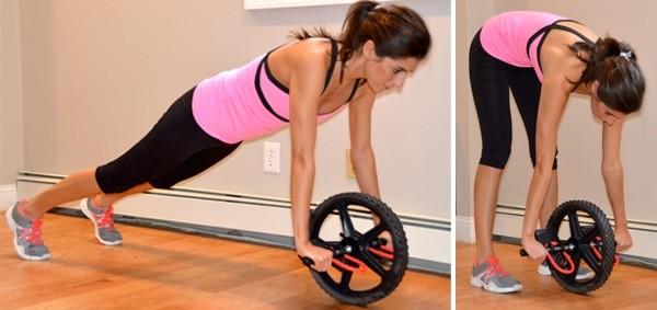 Упражнение с роликом для спины