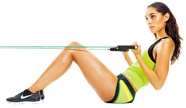 Упражнение с эспандером для спины