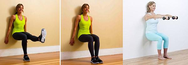 Варианты упражнения стульчик