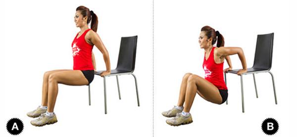 Облегченные отжимания от стула