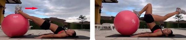 Продвинутая техника на гимнастическом мяче