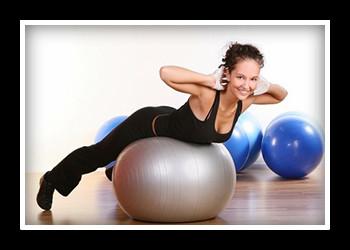 Комплекс упражнений для похудения на фитболе