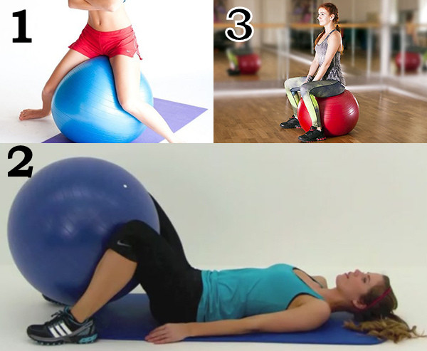 Упражнения на ягодицы с фитболом