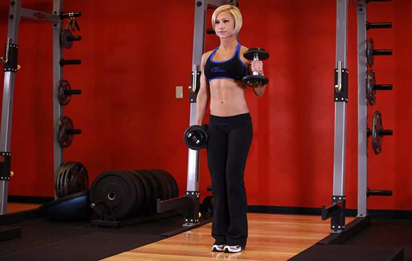 Упражнение молот для девушек