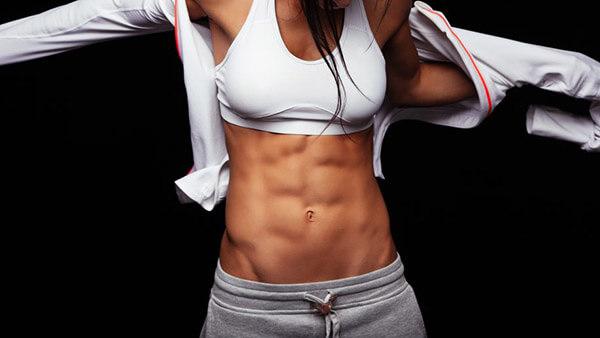 мышцы на животе у девушек фото