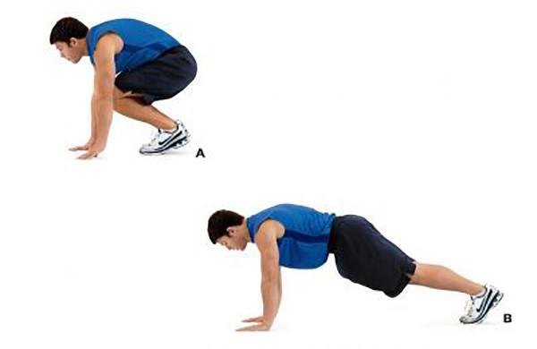 Упражнения скалолаз с прыжком