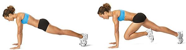 Упражнения скалолаз техника