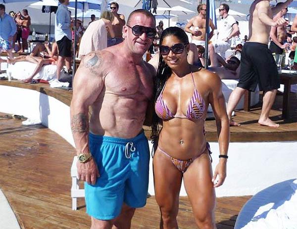 Дориан Йейтс с женой