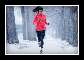 бег зимой фото