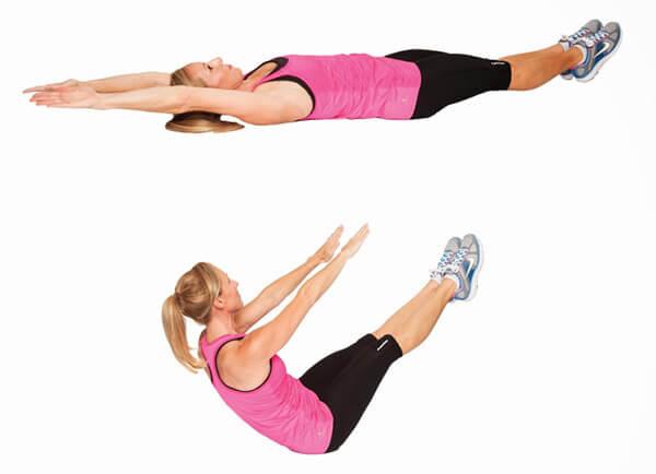 Упражнение складка фото