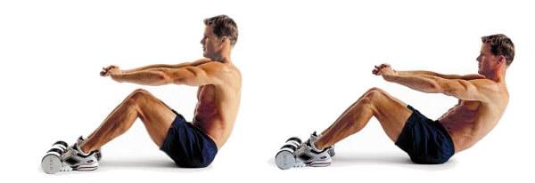 Скручивания для мышц кора