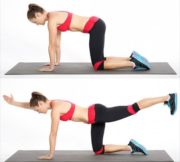 Упражнение с вытягиванием конечностей