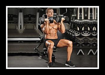 упражнения на плечи с гантелями фото