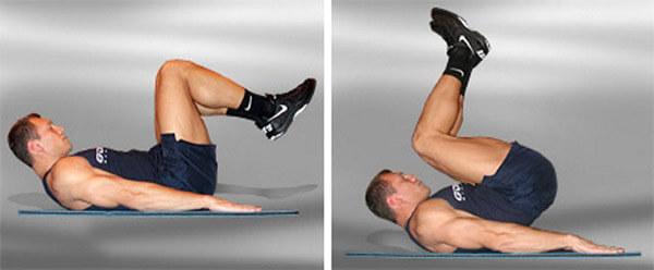 Подъем ног лежа на горизонтальной поверхности