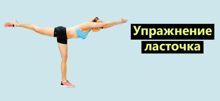 Упражнение ласточка фото