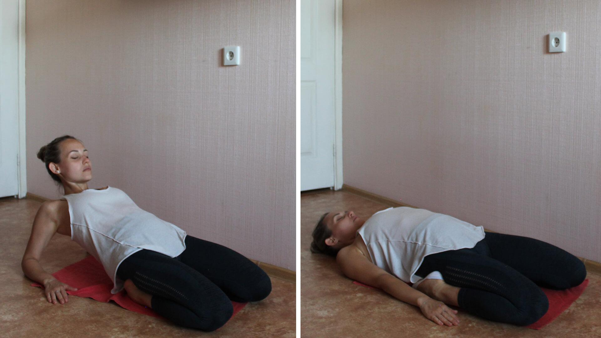 Растяжение квадрицепса: фото упражнения.