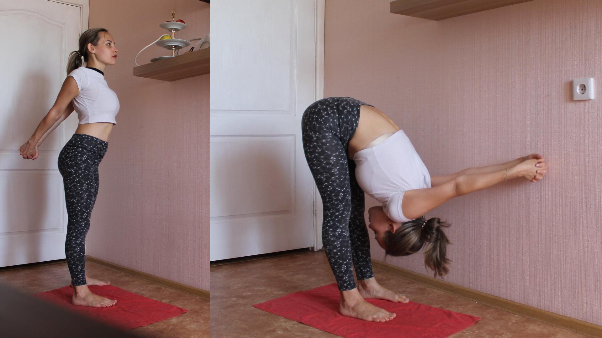 Упражнение замок в наклоне: фото.