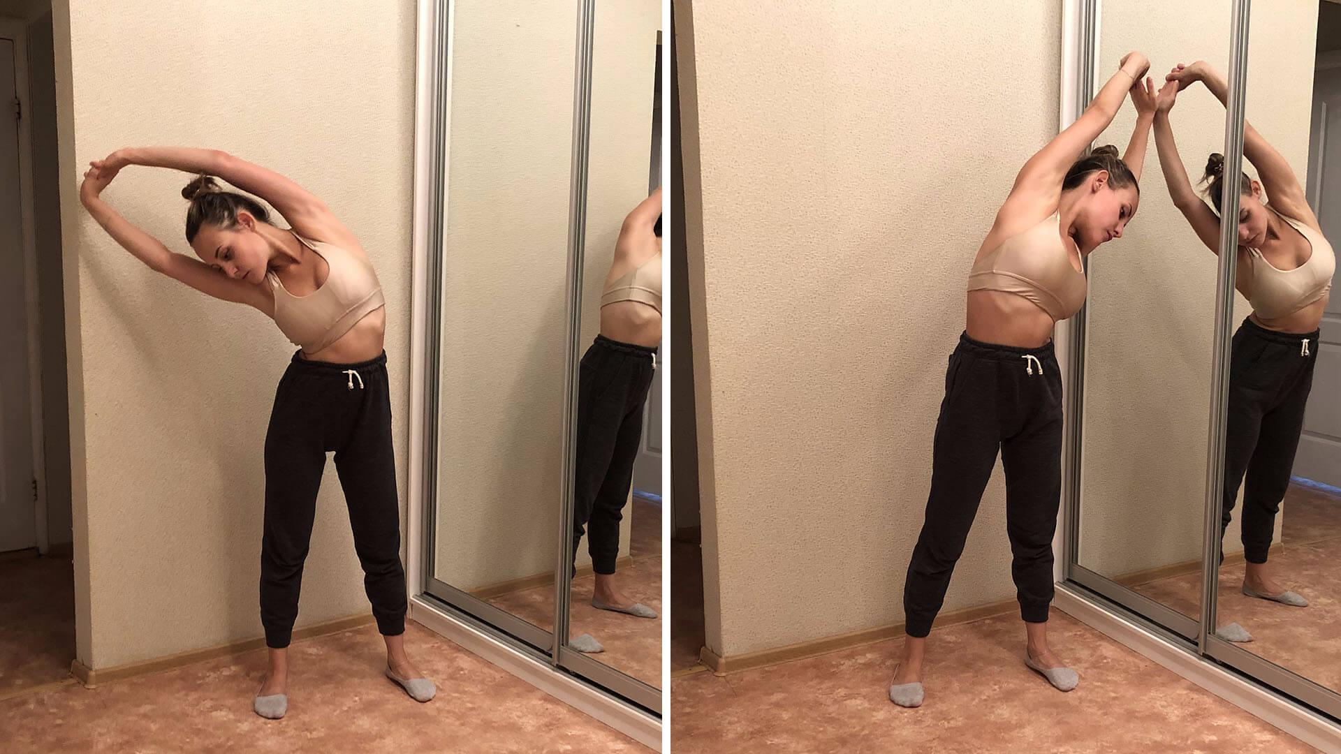 Боковые наклоны: фото упражнения.