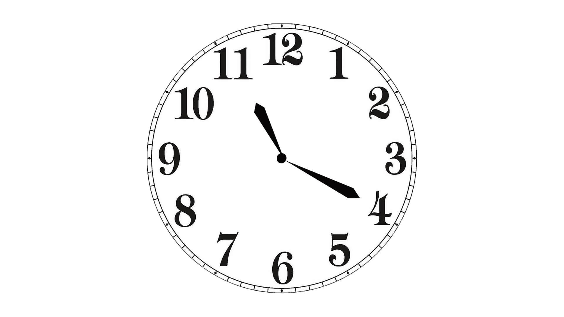 Циферблат часов.