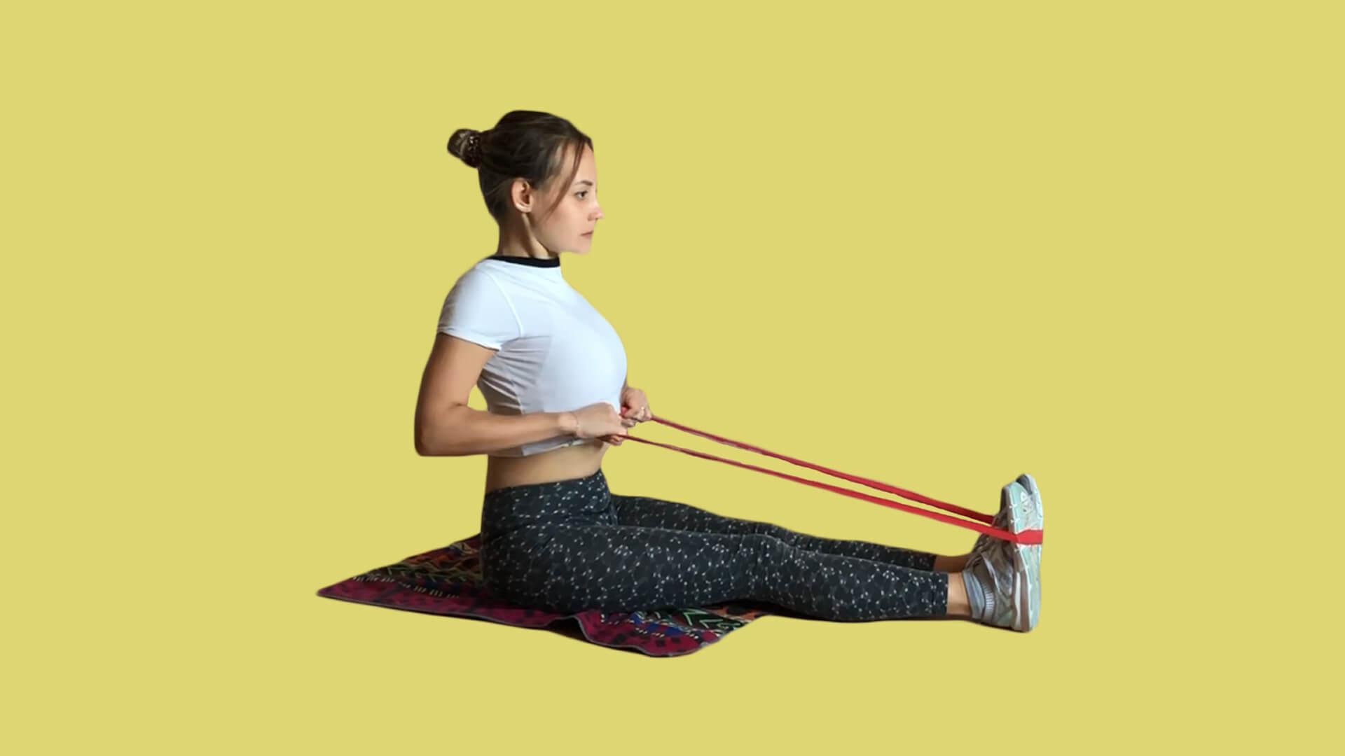 Резинка для спины: фото.