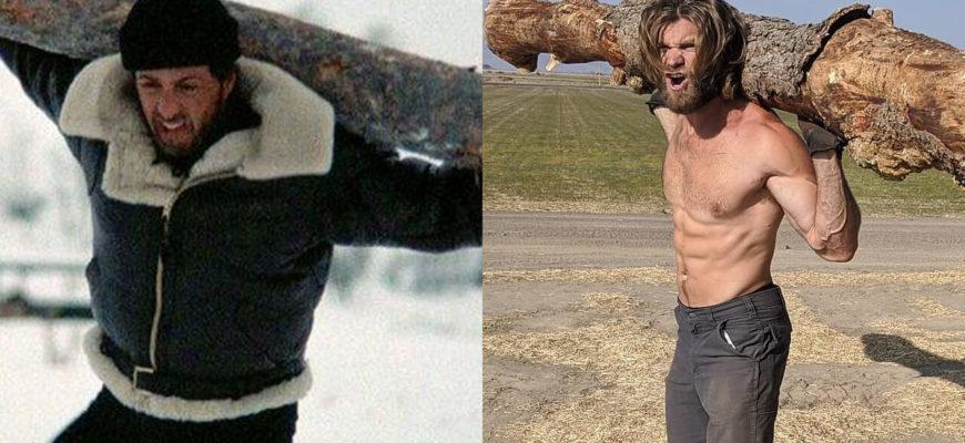 Братья повторили тренировку Рокки 4: фото.