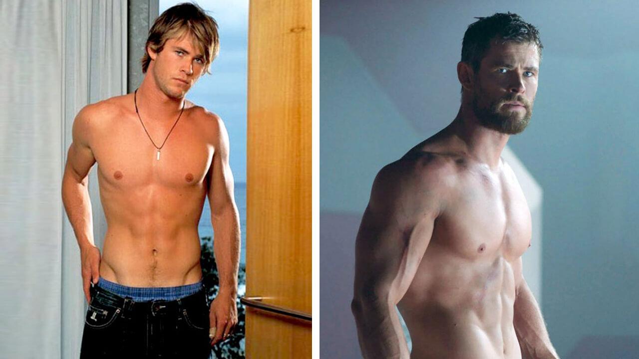 Крис Хемсворт: фото до и после.