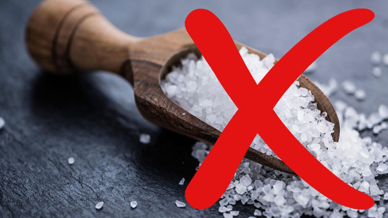 Употребляйте меньше соли.