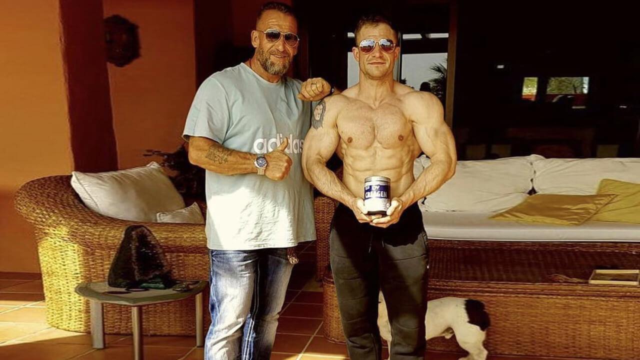Дориан Ятс с сыном.