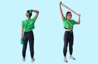 Упражнения с резинкой для рук: фото.