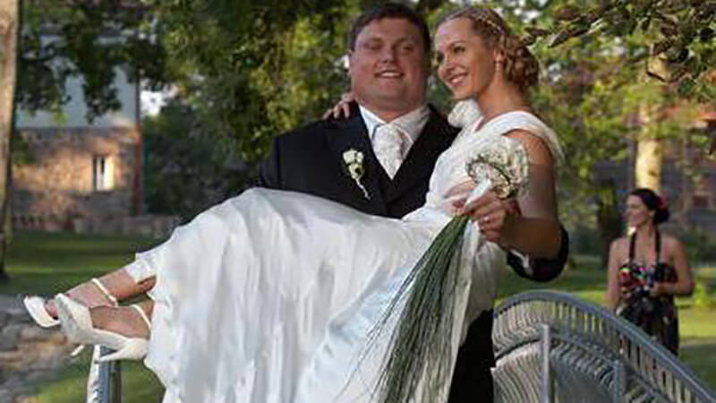 Жидрунас Савицкас с женой.