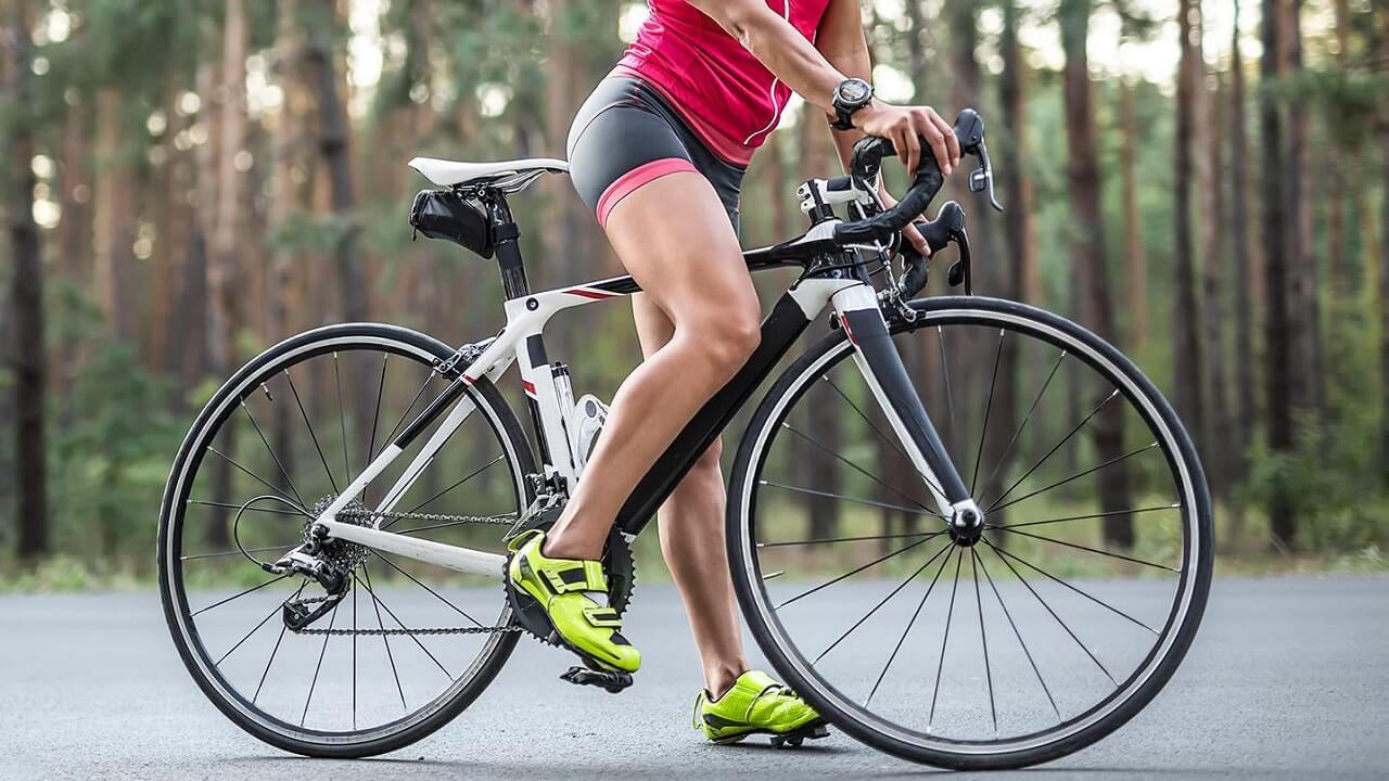 Мышцы ног на велосипеде.