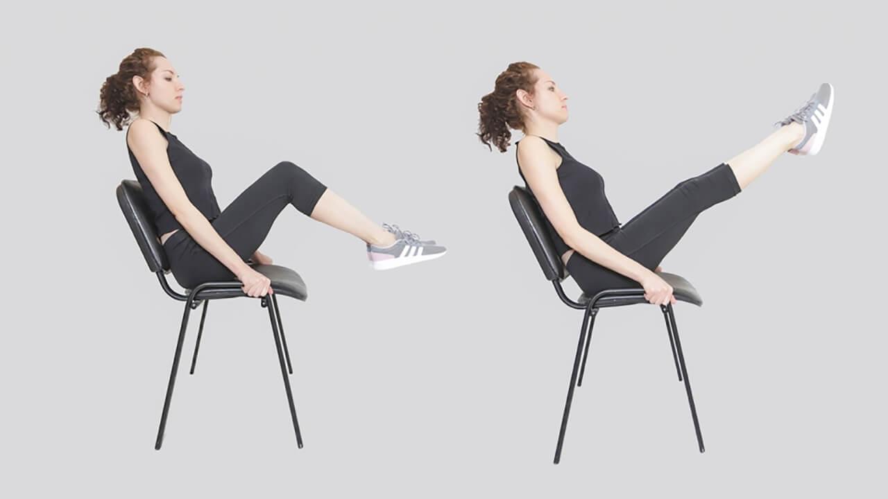 Уголок с разгибанием колен: фото упражнения.